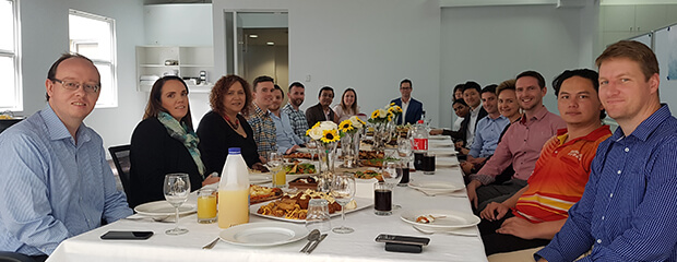 Lunch in our new Brisbane office