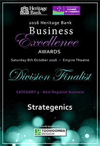 2016 Heritage Bank Business Excellence Awards - Division Finalist