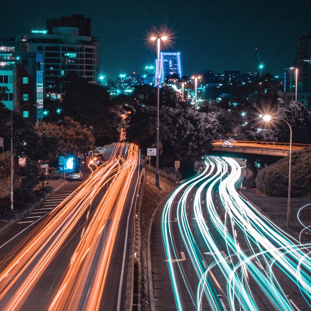 Brisbane cars lights