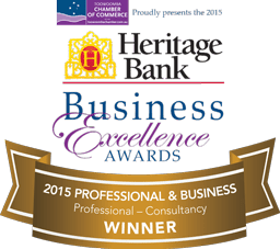 2015 Heritage Bank Business Excellence Awards - Winner, Professional & Consultancy category