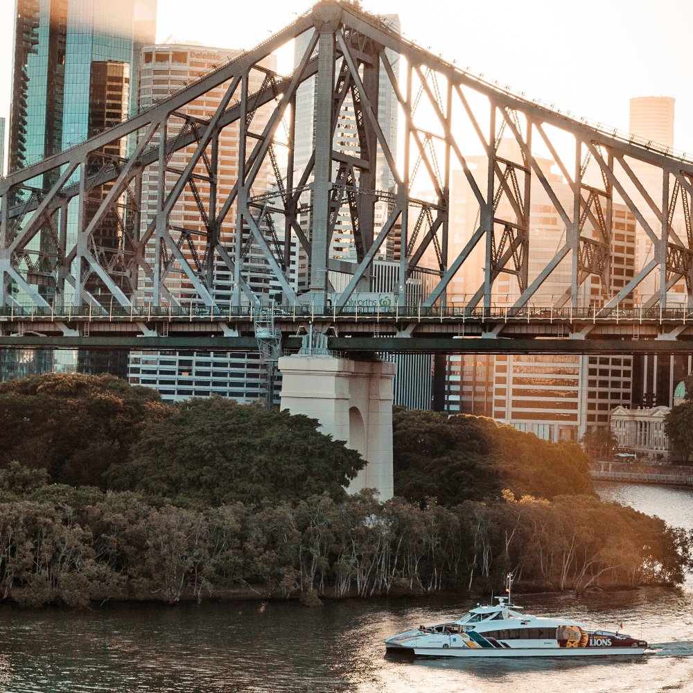 Brisbane bridge and ferry