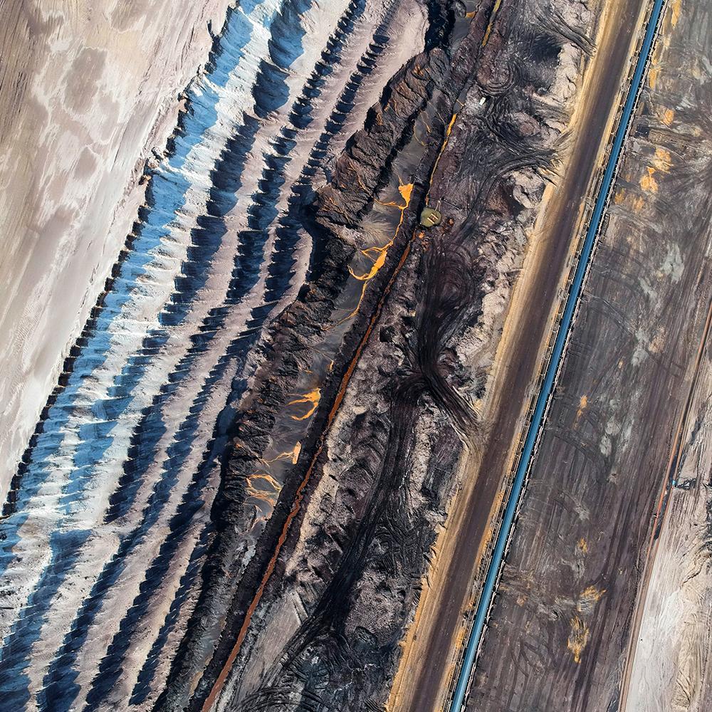 Mine aerial view