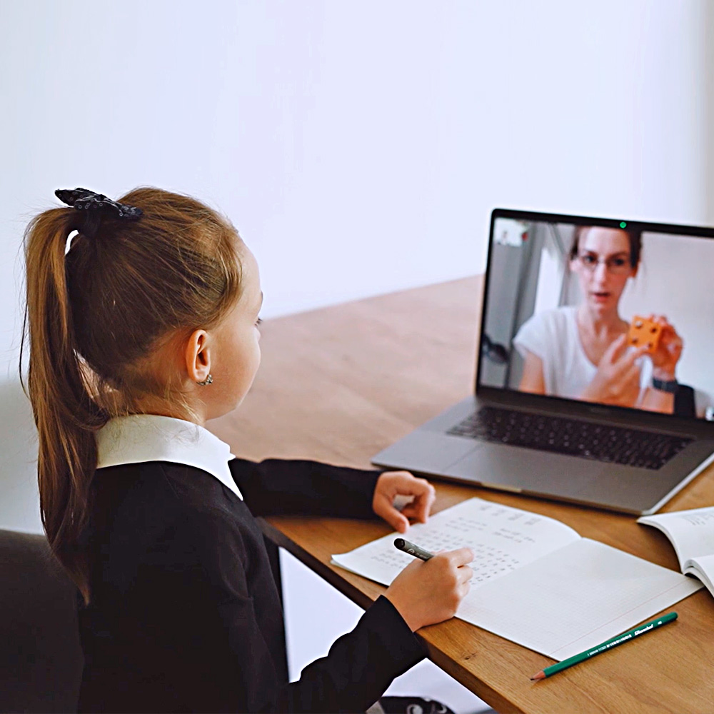 young-student-virtual-learning